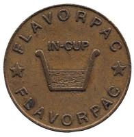 In-Cup. Flavorpac. Жетон торгового автомата, США.