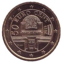 Монета 50 центов, 2018 год, Австрия.
