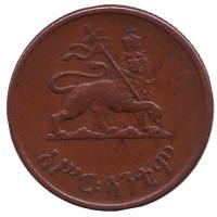 Монета 10 центов. 1944 год, Эфиопия.