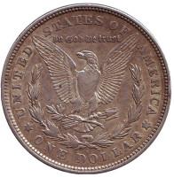 Моргановский доллар. Монета 1 доллар. 1921 год (D), США.