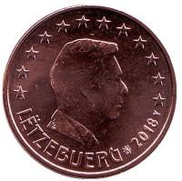 Монета 5 центов. 2018 год, Люксембург.