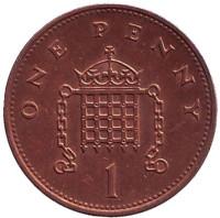 1 пенни. 1996 год, Великобритания.