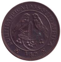 Птицы. Монета 1/4 пенни (фартинг). 1935 год, ЮАР. aUNC.