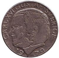 Монета 1 крона. 1979 год, Швеция.