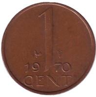 1 цент. 1970 год, Нидерланды.