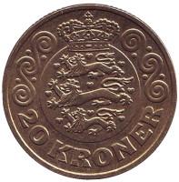 Монета 20 крон. 2015 год, Дания.