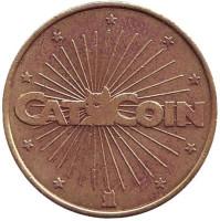 """Игровой жетон """"No Cash Value - Catcoin""""."""