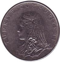 Невеста. Монета 50 курушей. 1976 год, Турция.
