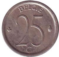 25 сантимов. 1969 год, Бельгия. (Belgie)