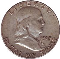 Франклин. Монета 50 центов. 1963 год (D), США.