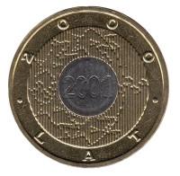 2000 год (Миллениум). Монета 2 злотых,  2000 год, Польша.