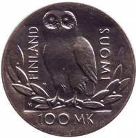 350 лет Хельсинкскому университету. Монета 100 марок. 1990 год, Финляндия.