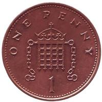 1 пенни. 1999 год, Великобритания.