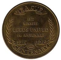 Leeds United. Arsenal. Победа в финале кубка Англии 1972 г. Футбольный жетон, Великобритания.