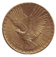 Кондор. Монета 2 чентезимо. 1964 год, Чили. aUNC.