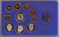 Набор монет ФРГ (10 шт.). 1996 год. (A), ФРГ. Пруф!