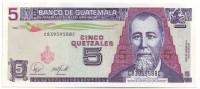 Хусто Руфино Барриос Ауйон. Банкнота 5 кетцалей. 2007 год, Гватемала.