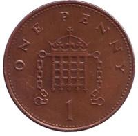 1 пенни. 2000 год, Великобритания.