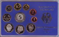 Набор монет ФРГ (10 шт.). 1996 год. (D), ФРГ. Пруф!