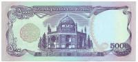 Банкнота 5000 афгани. 1993 год, Афганистан.