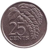 Чакония. Монета 25 центов. 1984 год, Тринидад и Тобаго.
