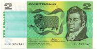 Джон Макартур. Банкнота 2 доллара. 1972-1985 гг., Австралия.