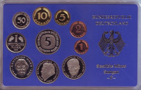Набор монет ФРГ (10 шт.). 1996 год. (F), ФРГ. Пруф!