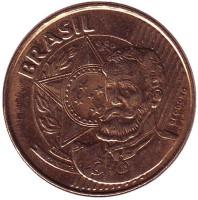 Мануэл Деодору да Фонсека. Монета 25 сентаво. 2014 год, Бразилия.