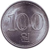 Монета 100 вон. 2005 год, Северная Корея.