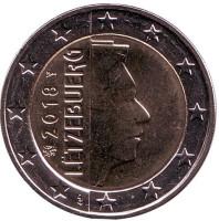 Монета 2 евро. 2018 год, Люксембург.