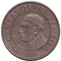 Монета 20 сентаво. 1978 год, Гондурас.