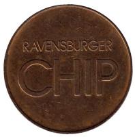 Ravensburger Chip. Парковочный жетон, Германия.