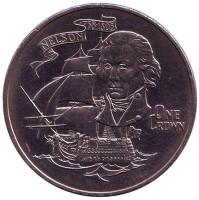 175 лет со дня смерти Горацио Нельсона. Монета 1 крона. 1980 год, Гибралтар.