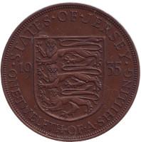 Монета 1/12 шиллинга. 1935 год, Джерси.