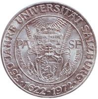 350 лет Зальцбургскому университету. Монета 50 шиллингов. 1972 год, Австрия.