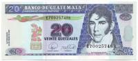 Доктор Мариано Гальвес. Банкнота 20 кетцалей. 2007 год, Гватемала.