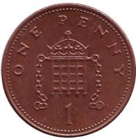 Монета 1 пенни. 2003 год, Великобритания.