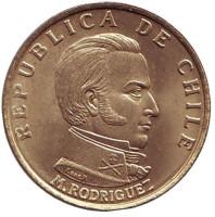 Мануэль Родригес. Монета 50 чентезимо. 1971 год, Чили.