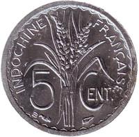 Монета 5 центов. 1946 год (B), Французский Индокитай.