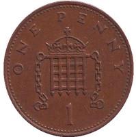 1 пенни. 1982 год, Великобритания.