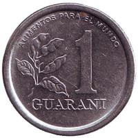 Монета 1 гуарани. 1978 год, Парагвай.