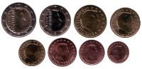 Набор монет евро (8 штук). 2018 год, Люксембург.