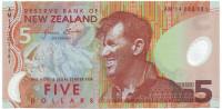 Сэр Эдмунд Хиллари. Пингвин. Банкнота 5 долларов. 2014 год, Новая Зеландия.