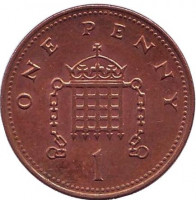 Монета 1 пенни. 2004 год, Великобритания.
