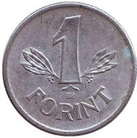 Монета 1 форинт. 1980 год, Венгрия.
