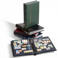 Альбом для почтовых марок, формат А4, 64 страницы черного цвета. Производство Leuchtturm.