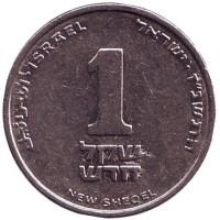 Монета 1 новый шекель. 1997 год, Израиль.