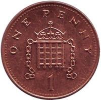 Монета 1 пенни. 2005 год, Великобритания.