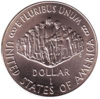 200 лет Конституции США. Монета 1 доллар. 1987 год (P), США. Proof.