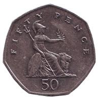 Монета 50 пенсов. 2004 год, Великобритания.